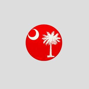 SC Palmetto Moon State Flag Red Mini Button