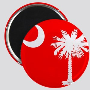 SC Palmetto Moon State Flag Red Magnet