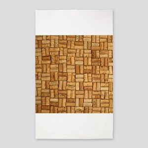 Wine Corks 3 3'x5' Area Rug