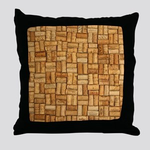 Wine Corks 3 Throw Pillow