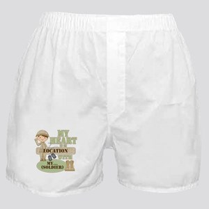 Heart With Soldier Boxer Shorts