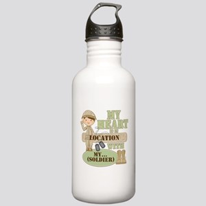 Heart With Soldier Stainless Water Bottle 1.0L