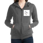 Tufted Titmouse Drawing Zip Hoodie