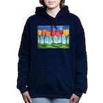 Tulip Trees Watercolor Hooded Sweatshirt