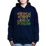 Abstract Arabic Design Hooded Sweatshirt