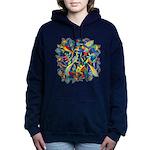 Leaves on Water Watercolor Hooded Sweatshirt