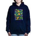 Leaf Mosaic Hooded Sweatshirt