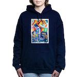 Surreal Seascape Watercolor Hooded Sweatshirt