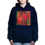 Autumn Fury Abstract Hooded Sweatshirt