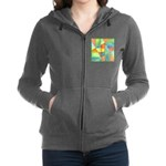 Color Square Abstract One Zip Hoodie