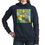 Color Square Abstract One Hooded Sweatshirt