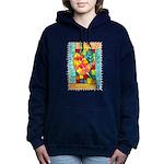 Autumn Quilt Watercolor Hooded Sweatshirt