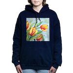 Tulips Watercolor Hooded Sweatshirt