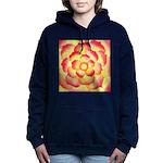 Flame Tip Flower Watercolor Hooded Sweatshirt