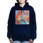 Multicolor Oak Leaf Watercolor Hooded Sweatshirt