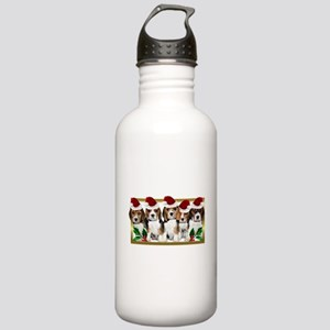 Christmas Beagles Water Bottle