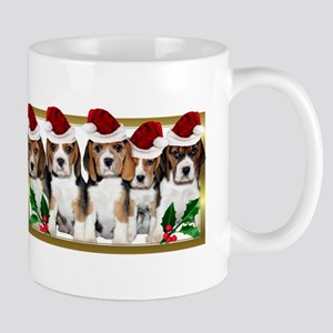 Christmas Beagles Mugs