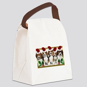 Christmas Beagles Canvas Lunch Bag