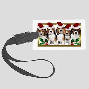 Christmas Beagles Luggage Tag