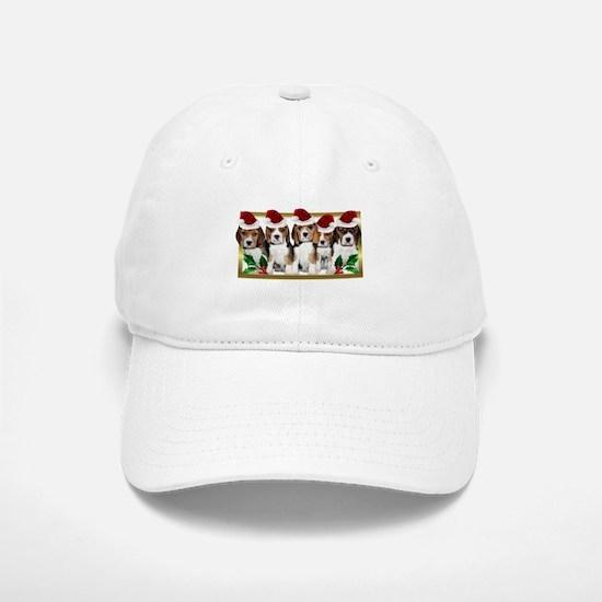 Christmas Beagles Baseball Baseball Baseball Cap