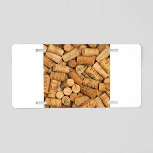 Wine Corks 1 Aluminum License Plate