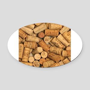 Wine Corks 1 Oval Car Magnet
