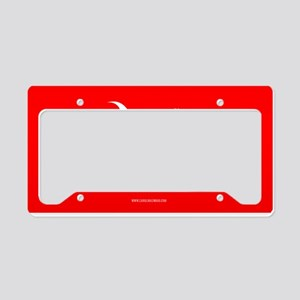 SC Palmetto Moon State Flag Red License Plate Hold
