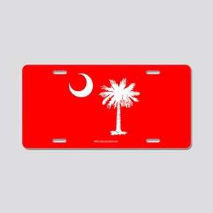 SC Palmetto Moon State Flag Red Aluminum License P