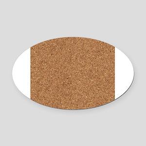 Corkboard Oval Car Magnet