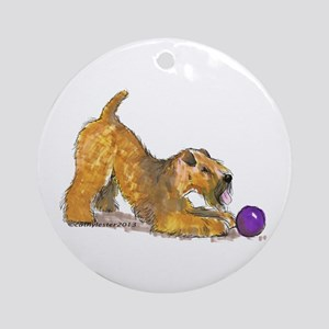 Soft Coated Wheaten Terrier with Ball Ornament (Ro