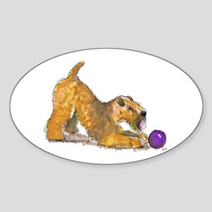 Soft Coated Wheaten Terrier with Ball Sticker