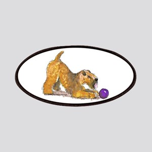 Soft Coated Wheaten Terrier with Ball Patches