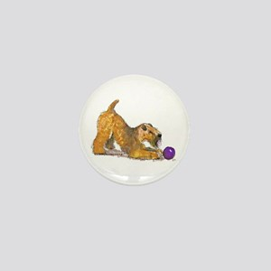 Soft Coated Wheaten Terrier with Ball Mini Button