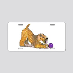 Soft Coated Wheaten Terrier with Ball Aluminum Lic