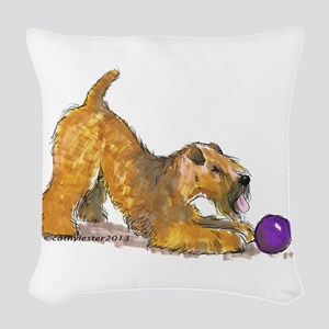 Soft Coated Wheaten Terrier with Ball Woven Throw