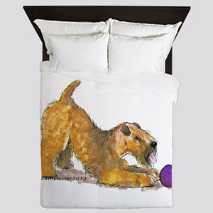 Soft Coated Wheaten Terrier with Ball Queen Duvet