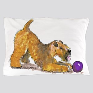 Soft Coated Wheaten Terrier with Ball Pillow Case