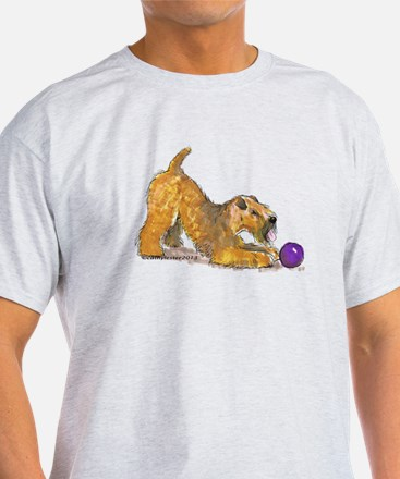 Soft Coated Wheaten Terrier with Ball T-Shirt