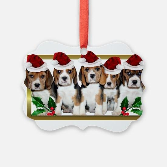 Christmas Beagles Ornament
