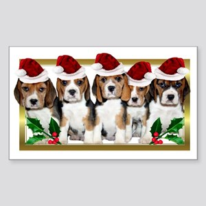Christmas Beagles Sticker