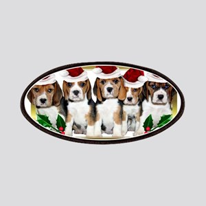 Christmas Beagles Patches