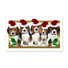 Christmas Beagles Wall Decal