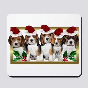 Christmas Beagles Mousepad