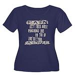 Pain Is Women's Plus Size Scoop Neck Dark T-Shirt
