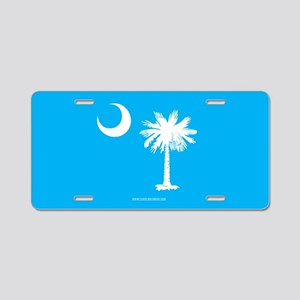 SC Palmetto Moon State Flag Blue Aluminum License