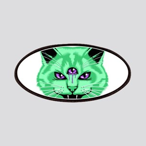 Hiss Cat Green Patches