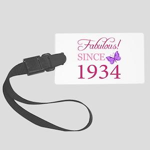 Fabulous Since 1934 Large Luggage Tag