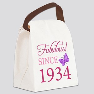 Fabulous Since 1934 Canvas Lunch Bag