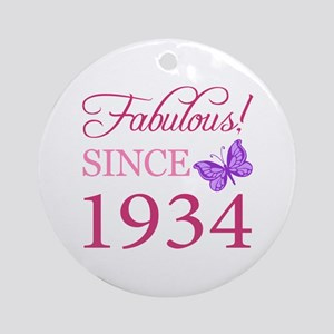 Fabulous Since 1934 Ornament (Round)