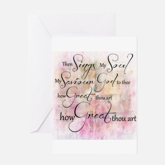 How great thou art Greeting Cards